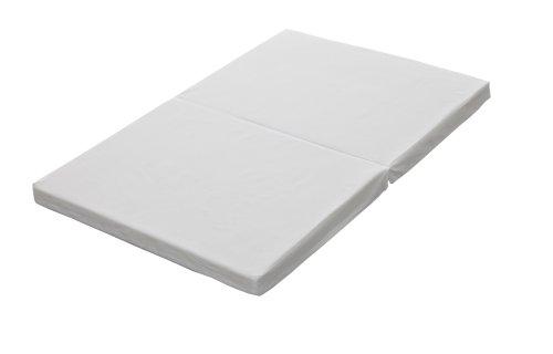 日本製 ミニサイズベビー敷布団 固綿 二つ折れタイプ ホワイト