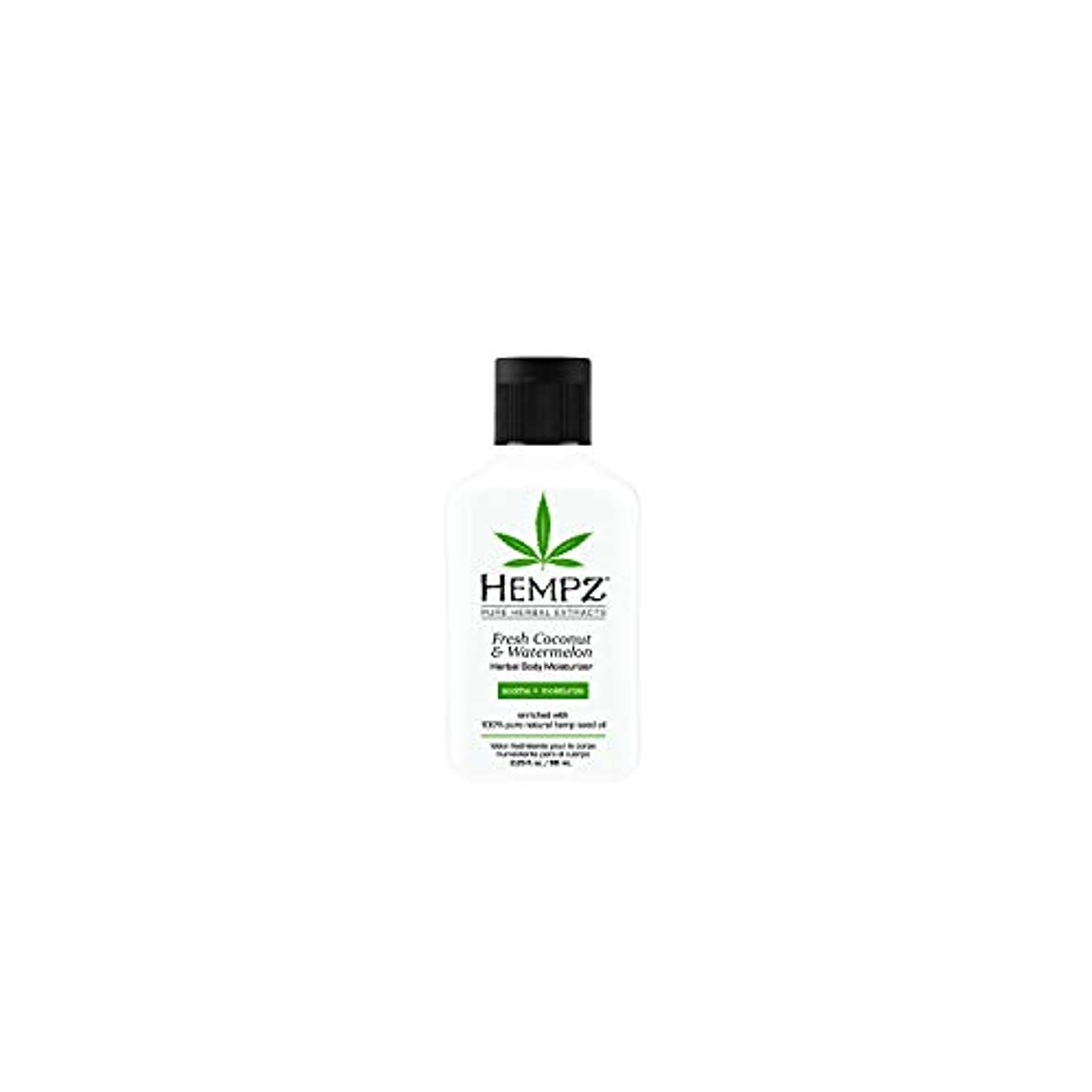 質素なゆでる無意味Hempz Herbal Body Moisturizer, Pearl White, Fresh Coconut/Watermelon, 2.25 Ounce by Hempz