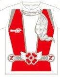 ももいろクローバーZ 公式グッズ 極楽門からこんにちは Z戦隊Tシャツ 百田夏菜子 レッド Lサイズ