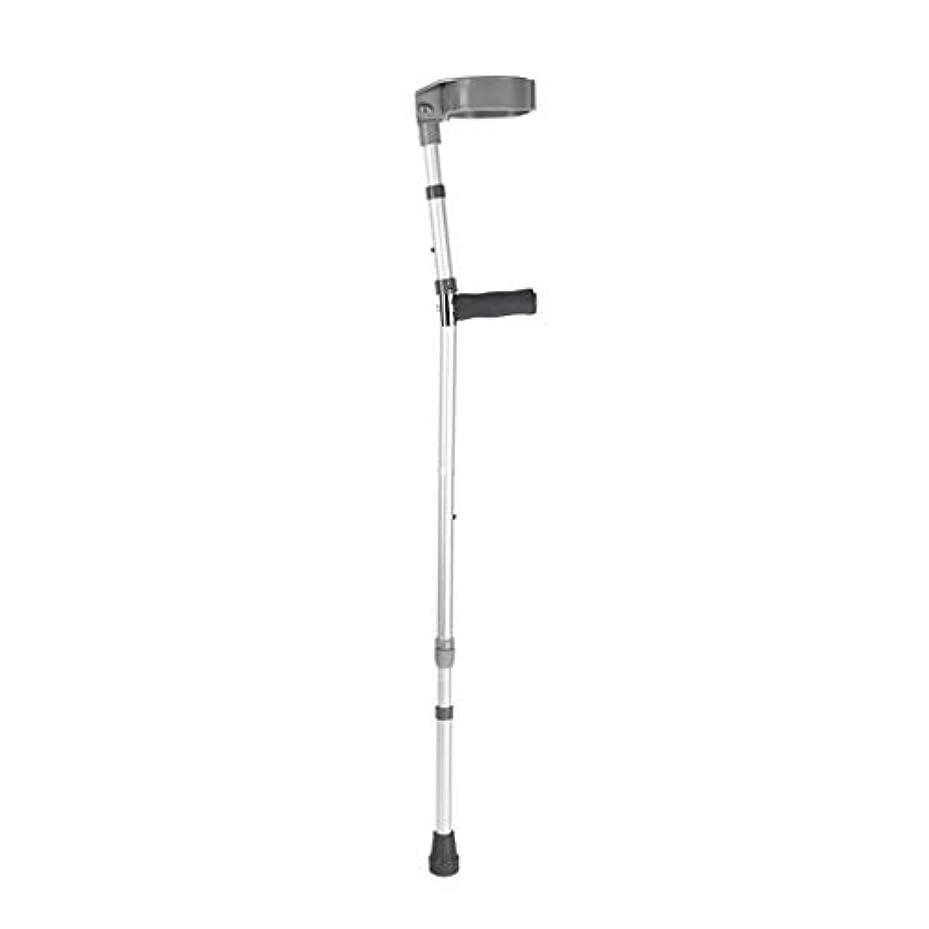 絶え間ない論争の的顎杖ステッキ 杖折りたたみ松葉杖 アルミアームポータブルアルミニウム合金脇の下骨折補助具リハビリテーション伸縮スリップ歩行補助 折りたたみ伸縮ステッキ (Size : Single)