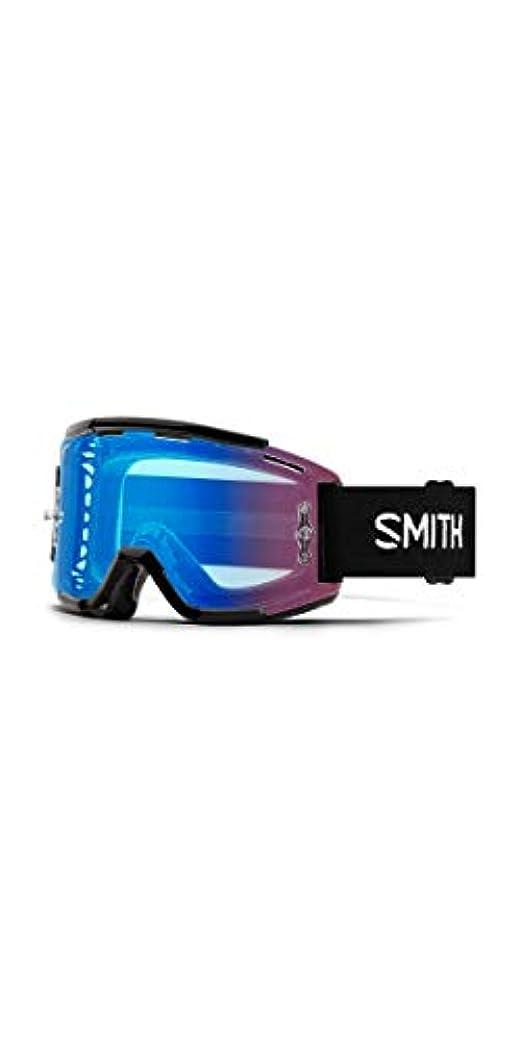 受取人肯定的反響するSmith Optics Squad 大人用 MTB オフロードサイクリングゴーグル - ブラック/クロマポップコントラストローズ/ワンサイズ