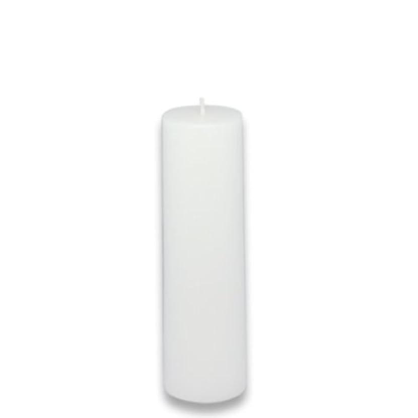 ナンセンス慣れる膨張するZest Candle Pillar Candle, 2 by 6-Inch, White [並行輸入品]
