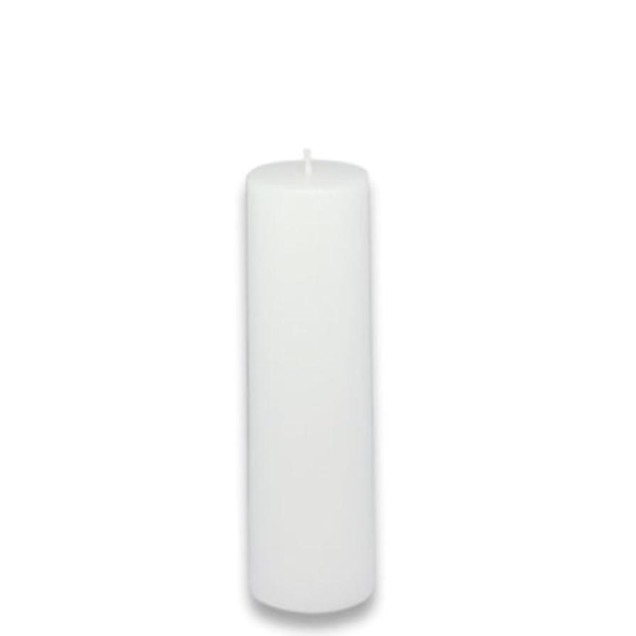 教育学重要固執Zest Candle Pillar Candle, 2 by 6-Inch, White [並行輸入品]