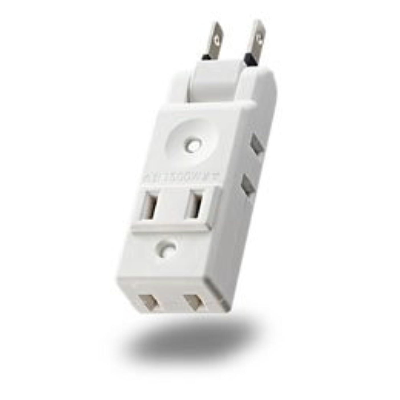 混乱上自由【まとめ 2セット】 エレコム 小型タップ/コンパクト/4個口/ホワイト AVT-M01-24WH