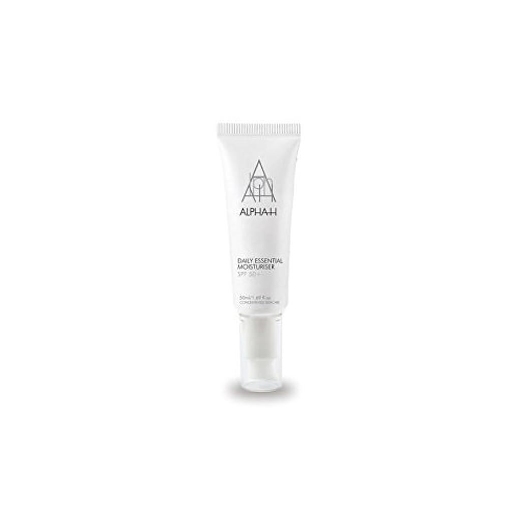 飼い慣らす活性化するシェトランド諸島Alpha-H Daily Essential Moisturiser Spf50+ (50ml) (Pack of 6) - アルファ毎日の必須保湿50 +(50)中 x6 [並行輸入品]