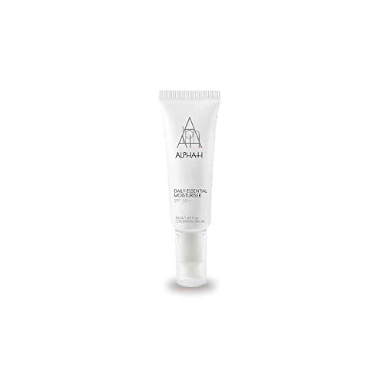 Alpha-H Daily Essential Moisturiser Spf50+ (50ml) - アルファ毎日の必須保湿50 +(50)中 [並行輸入品]