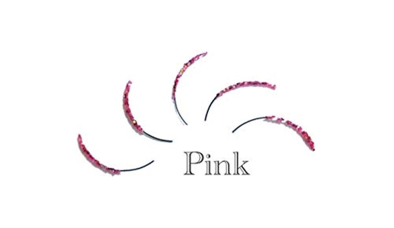 可動センサー矩形ラメアイラッシュ (C/12, ピンク)