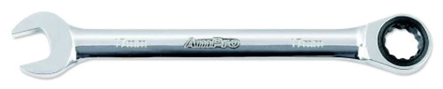 AMPRO T41415 15-Millimeter Geared Ratcheting Wrench by AmPro