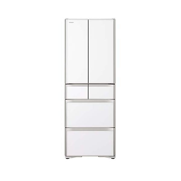 日立 冷蔵庫 430L 6ドア クリスタルホワイ...の商品画像