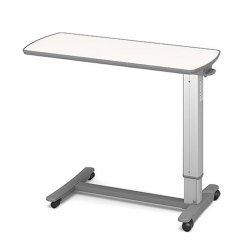 (代引き不可)パラマウントベッド ベッドサイドテーブル / KF-1920 アイボリー(ガススプリング式 ベッドテーブル 介護)