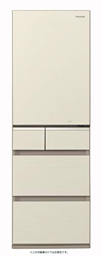 パナソニック 冷蔵庫 5ドア 406L パーシャル搭載 シャンパンゴールド 左開き NR-E414GVL-N