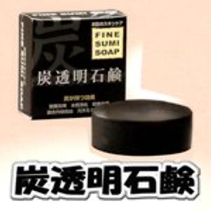目を覚ます抹消穀物阪本高生堂 (ファインコスメティックス) 炭透明石鹸