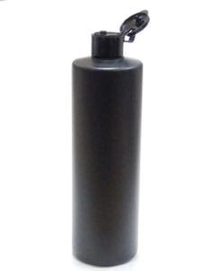 誤解キルト参照プラスチック容器 500mL PE ストレートボトル 遮光黒【ヒンジキャップ:ブラック】