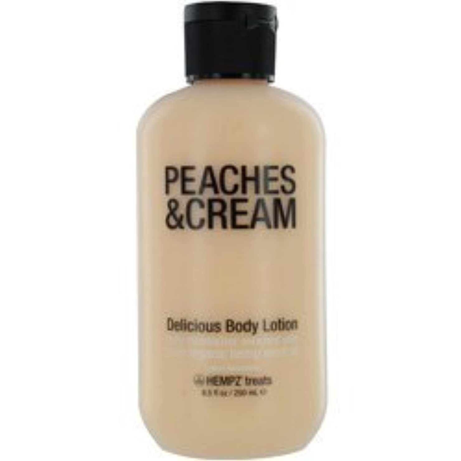 同盟ラバ余計なHEMPZ HEMPZ TREATS DELICIOUS BODY LOTION (PEACHES & CREAM) 8.5 OZ UNISEX by jiras-bb