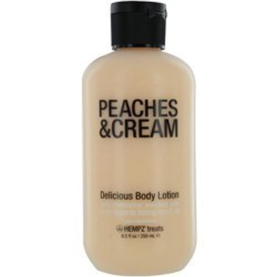 手足万一に備えて分析HEMPZ HEMPZ TREATS DELICIOUS BODY LOTION (PEACHES & CREAM) 8.5 OZ UNISEX by jiras-bb
