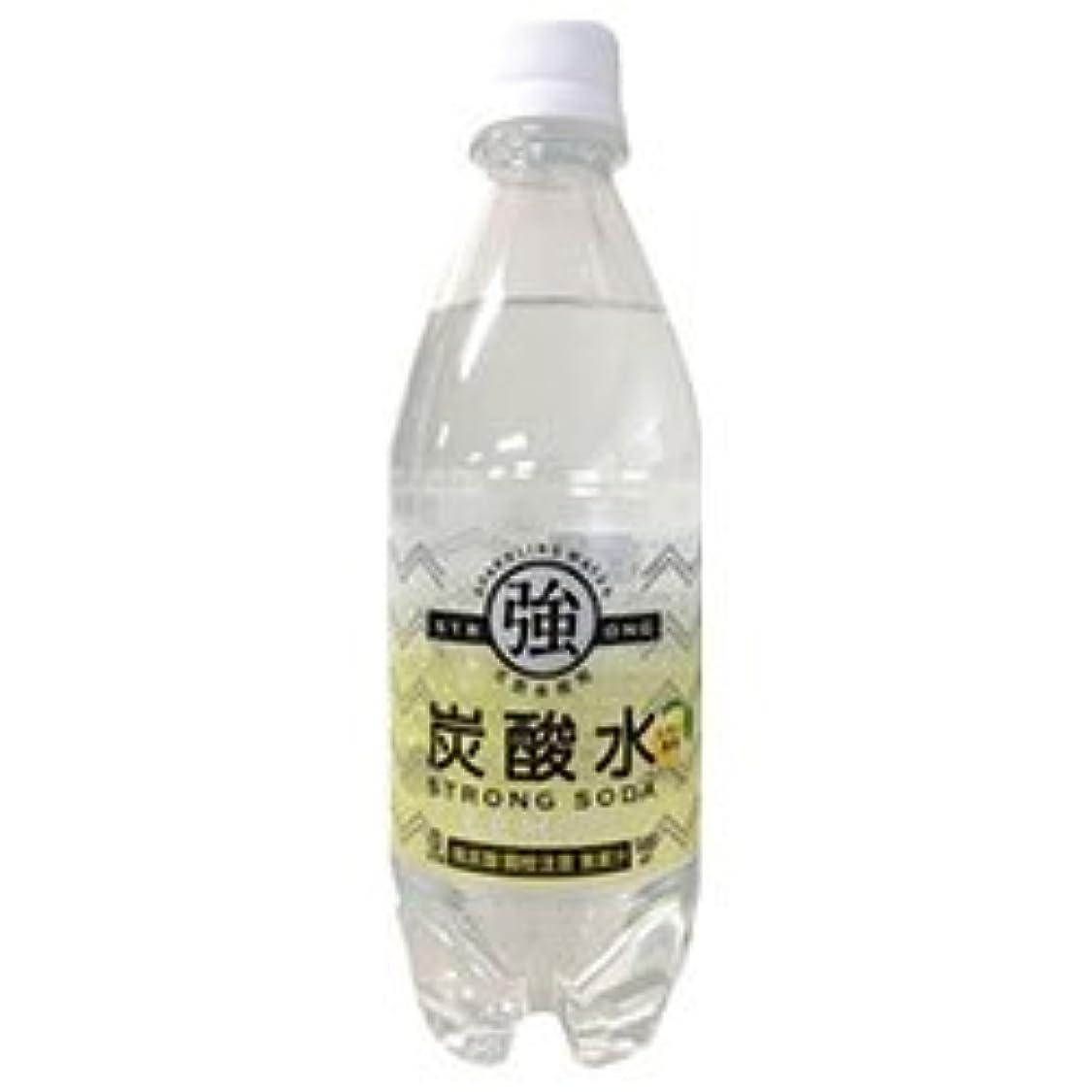 速いダーベビルのテスブレース友桝飲料 強炭酸水レモン 500mlペットボトル×24本入