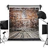 ケイト写真レンガ壁背景背景幕カラフル木製床Photo Studio Backdrop 5x7ft USYMCM-S-1088-D