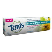 Tom's of Maine Peppermint Botanically Bright Fluoride and SLS Free - 4.7 Oz, Pack of 2 by Tom's of Maine