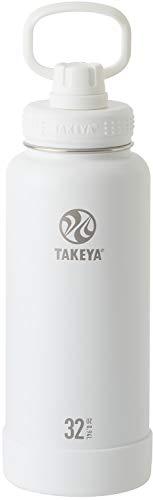【Best Water Bottle 2018 受賞】TAKEYA(タケヤ) タケヤフラスク アクティブライン 水筒 ステンレスボトル 直飲み 保冷 (アクティブホワイト, 940ml)