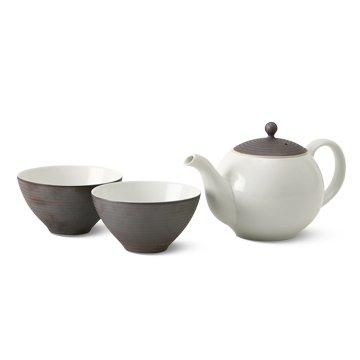 KIHARA/こだわりの茶葉ポットと湯呑2個セット