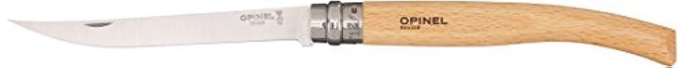 拒絶道を作る努力するOpinel(オピネル)No.12 スリム スチールナイフ ビーチウッド