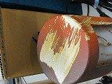 癒しの灯りたち、信楽、、朱きらら灯り、w125xh250国産竹炭5枚付