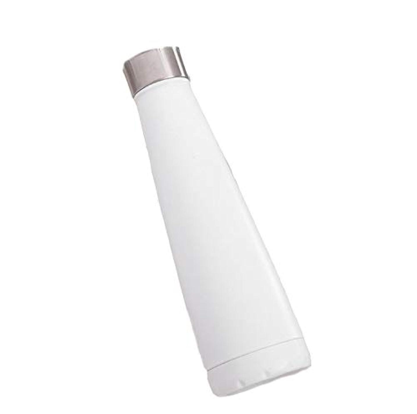 スキップ依存酸度Hagao ステンレス鋼ポータブル大容量500ミリリットルやかんスタイリッシュスポーツカップ屋外スポーツボトル高温耐性摩擦カップ ご愛顧ありがとうございました (Color : ホワイト)