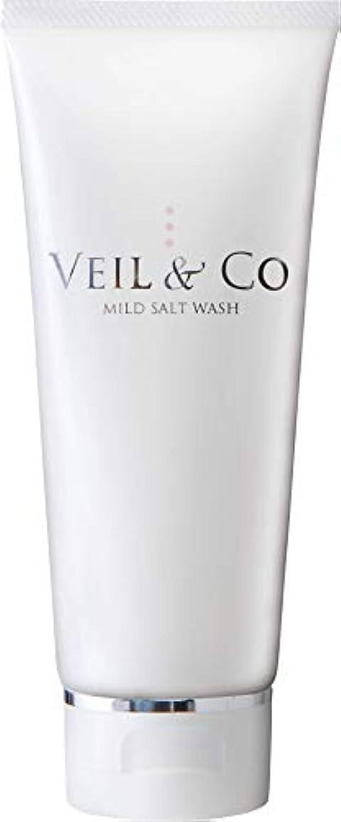 慎重衣服湖【VEIL&Co】ベールアンドコー 毛穴専用マイルドソルトウォッシュ(洗顔料) 150g