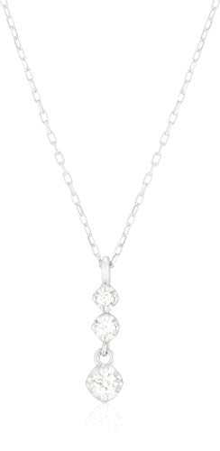 4℃(ヨンドシー) ダイヤモンドK10ホワイトゴールド(WG) ネックレス 111736123202