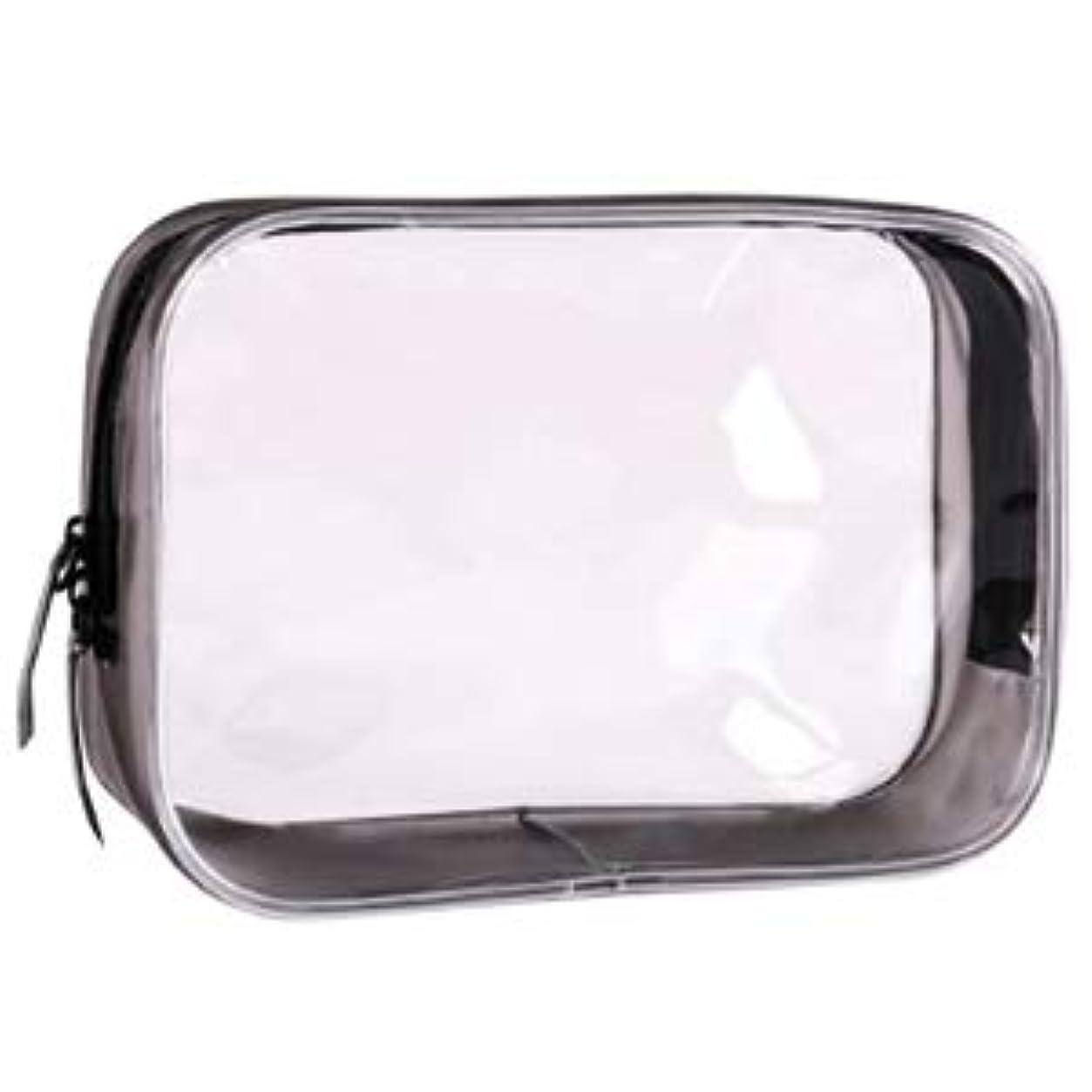 即席ペルメル耐えられるクリアポーチ トラベルポーチ 透明ポーチ ビニールポーチ PVC 化粧品収納 小物入れ 防水 (XL)