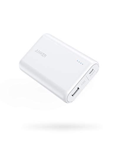 Anker PowerCore 10000 (10000mAh 最小最軽量 大容量 モバイルバッテリー) 【PSE認証済/PowerIQ搭載】 iPhone&Android対応 *2019年7月時点 (ホワイト)