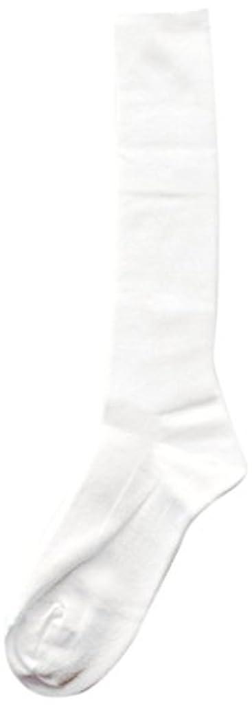 黙ハック頑丈Deol(デオル) ハイソックス 女性用 日本製 靴下 白 23cm-25cm
