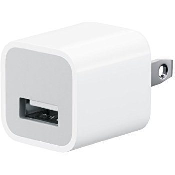 【アップル純正品】Apple/iPhone/6puls/6/5s/5/5/4s/4/ iPadmini/Air/iPad4/3/2/1/iPod用 5W USB電源アダプタ MD810LL/Aバルク品