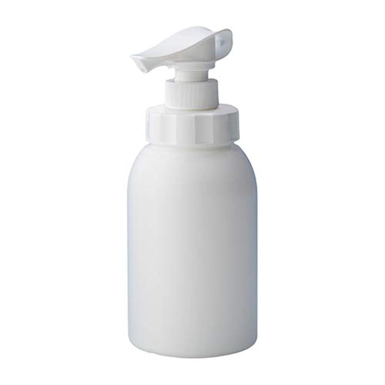 小石カメラ調査押すだけで泡が出る 安定感のある 泡ポンプボトル ボディソープ ハンドソープ 600ml詰め替え容器 ホワイト 10個セット