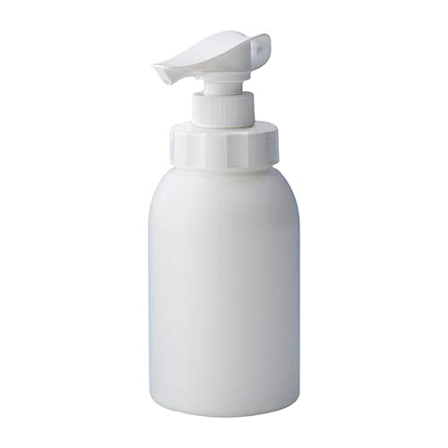 まばたき話す届ける安定感のある ポンプボトル シャンプー コンディショナー リンス ボディソープ ハンドソープ 600ml詰め替え容器 ホワイト 10個セット