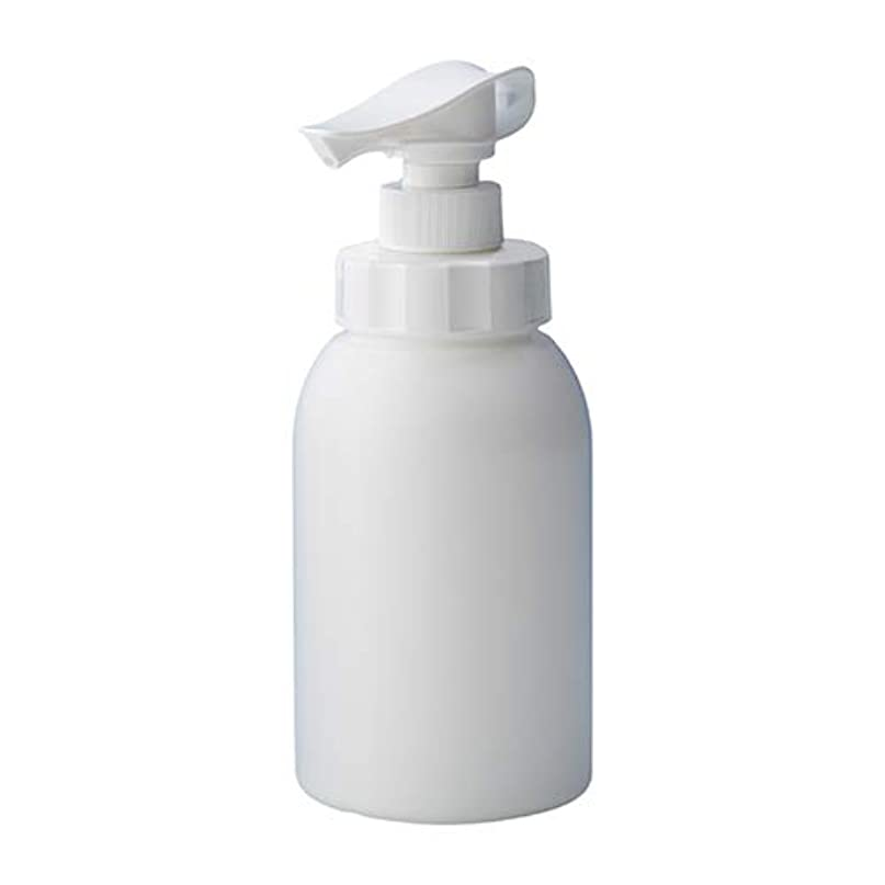 スピン嵐適切な安定感のある ポンプボトル シャンプー コンディショナー リンス ボディソープ ハンドソープ 600ml詰め替え容器 ホワイト 10個セット