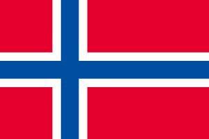 世界の国旗 ノルウェー 国旗 ポータブルフラッグ [ 25×37.5cm ポール付き手旗 高級テトロン製 ]