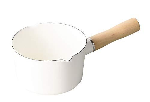 パール金属(PEARL METAL) ミルクパン ホワイト 12cm ホーロー ブランキッチン HB-4440