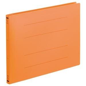 (業務用5セット)フラットファイル(再生PP) A4ヨコ 150枚収容 背幅18mm オレンジ 1パック(5冊) 【×5セット】
