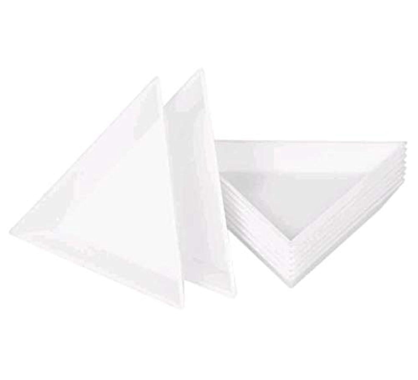 反響するくびれた作ります10Pcsネイルプレートネイルアート収納プレートステッカードリル収納ボックスダイヤモンドラインストーンドリルボックスDIYネイルアートアクセサリー