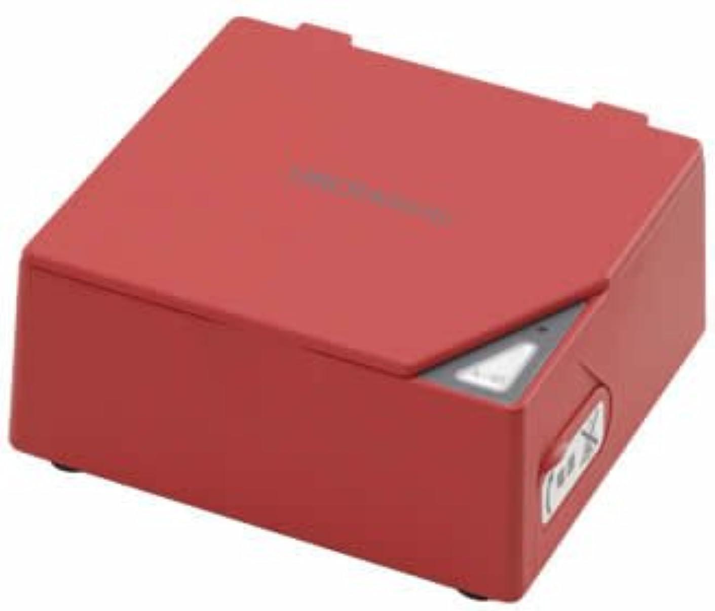 ゴミ箱を空にする変更蜜入れ歯洗浄器 ウロハミック レッド