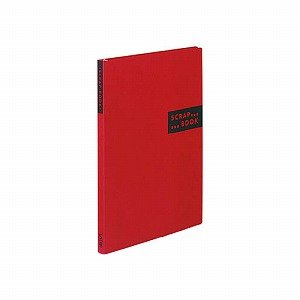 コクヨS&T スクラップブックSスパイラルとじ台紙40枚赤