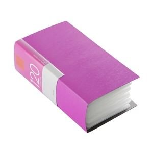 BUFFALO CD&DVDファイルケース ブックタイプ 120枚収納 ピンク [簡易パッケージ品]
