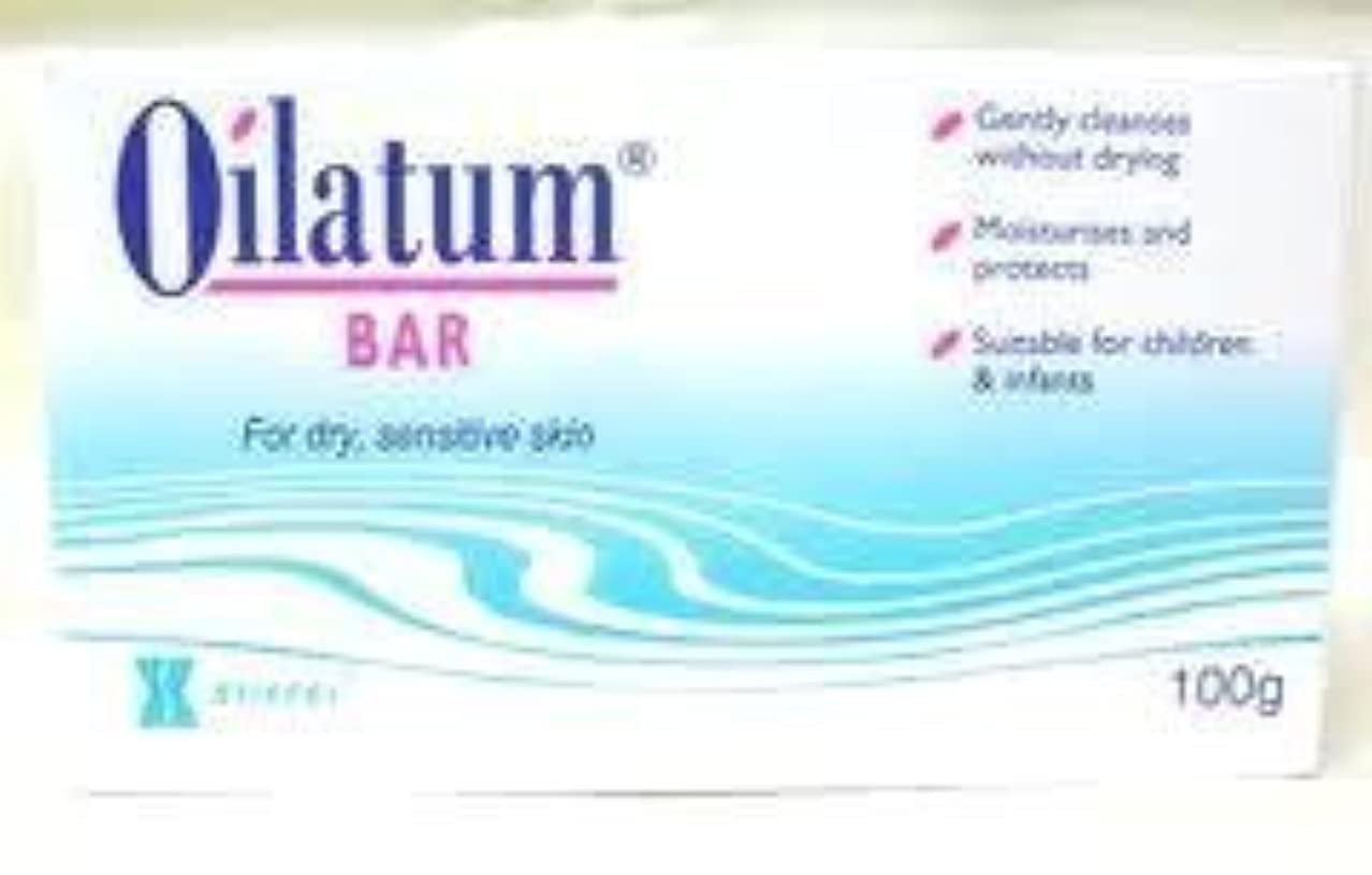 バッフル声を出してまばたきOilatum Bar Soap for Sensitive Soap Skin Free Shipping 100g. by Oilatum
