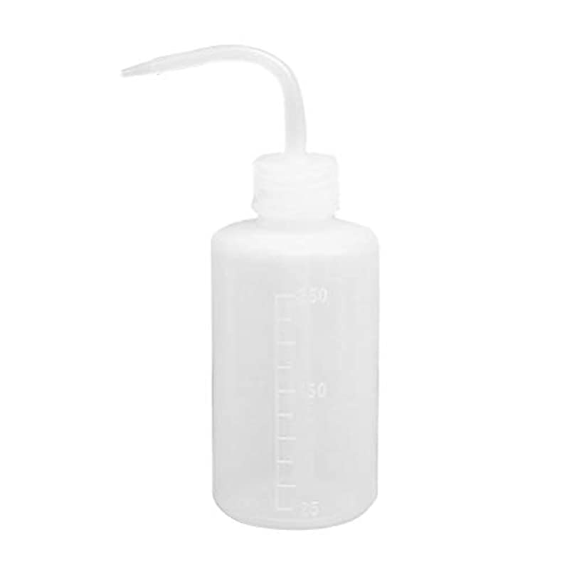 鏡一目作成するHealifty ベント口付き洗浄瓶絞り瓶250ml