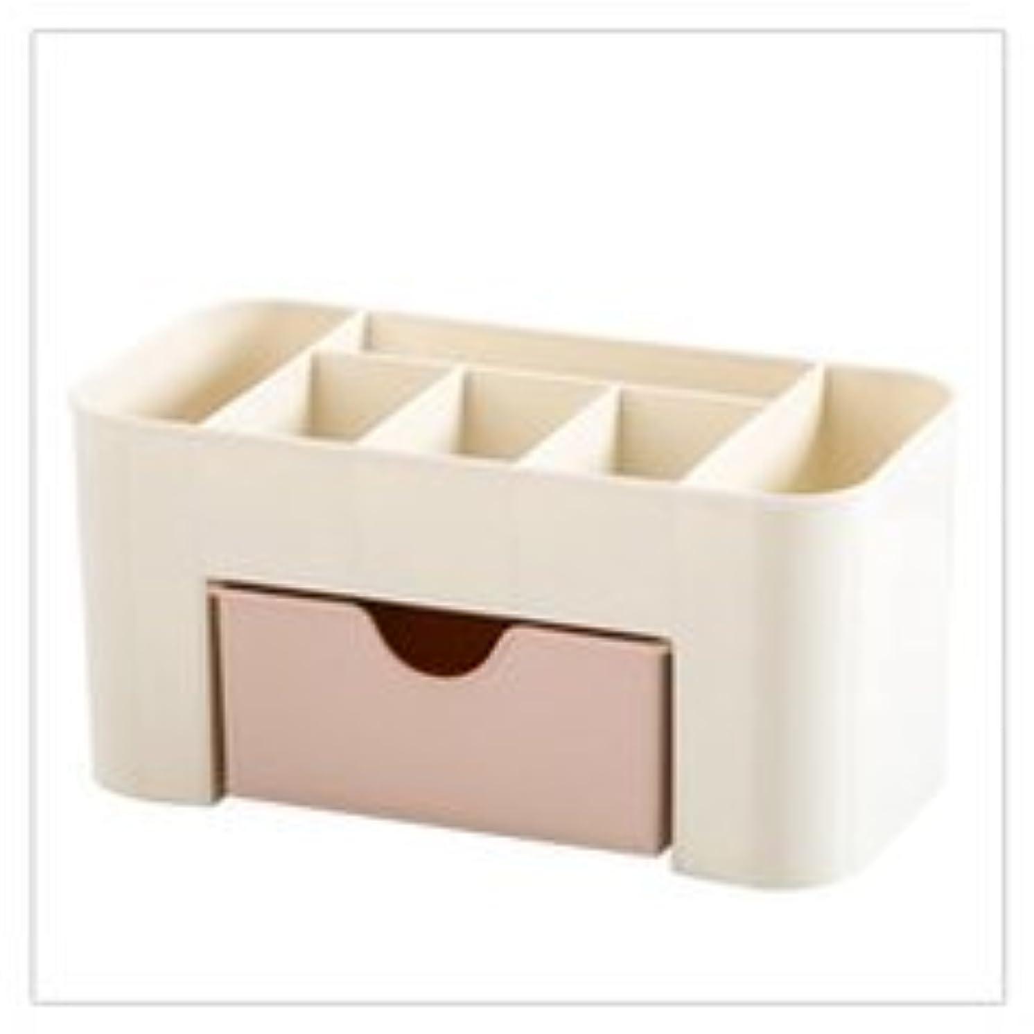 無法者捧げる化学化粧品収納ボックス化粧品引き出し仕上げボックスデスクトップジュエリースキンケアパックフレームドレッサー (Color : ピンク)