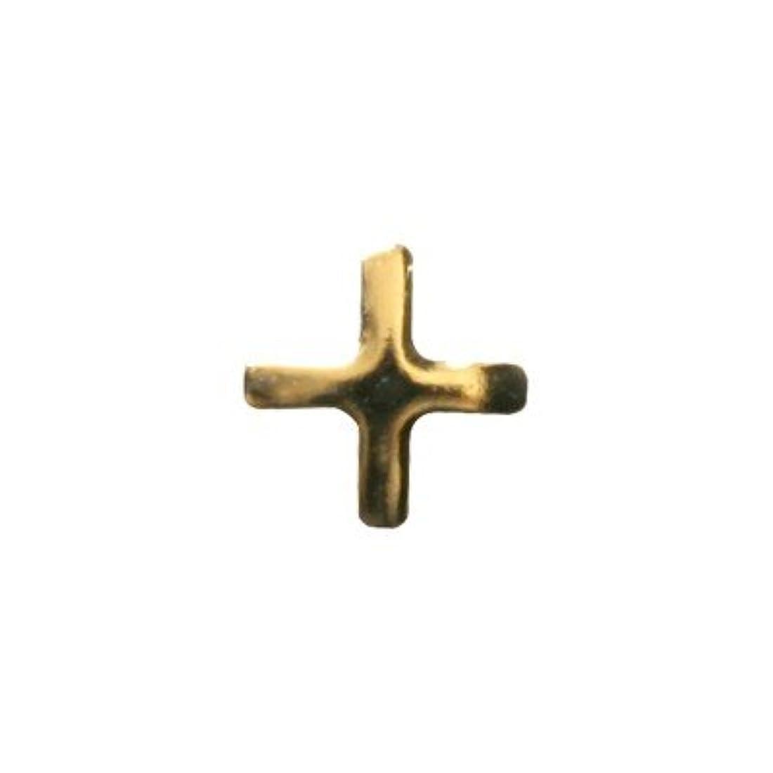 視力第四豪華なピアドラ スタッズ クロスレット ハーフ 3mm 50P ゴールド