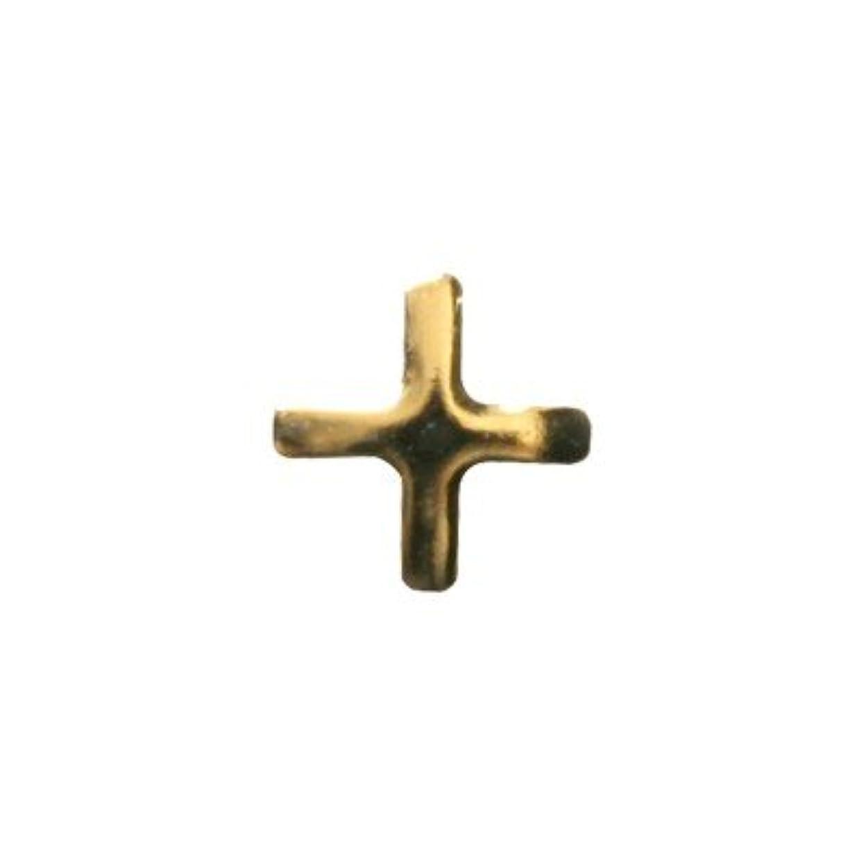 自然公園ぞっとするような暫定のピアドラ スタッズ クロスレット ハーフ 3mm 50P ゴールド
