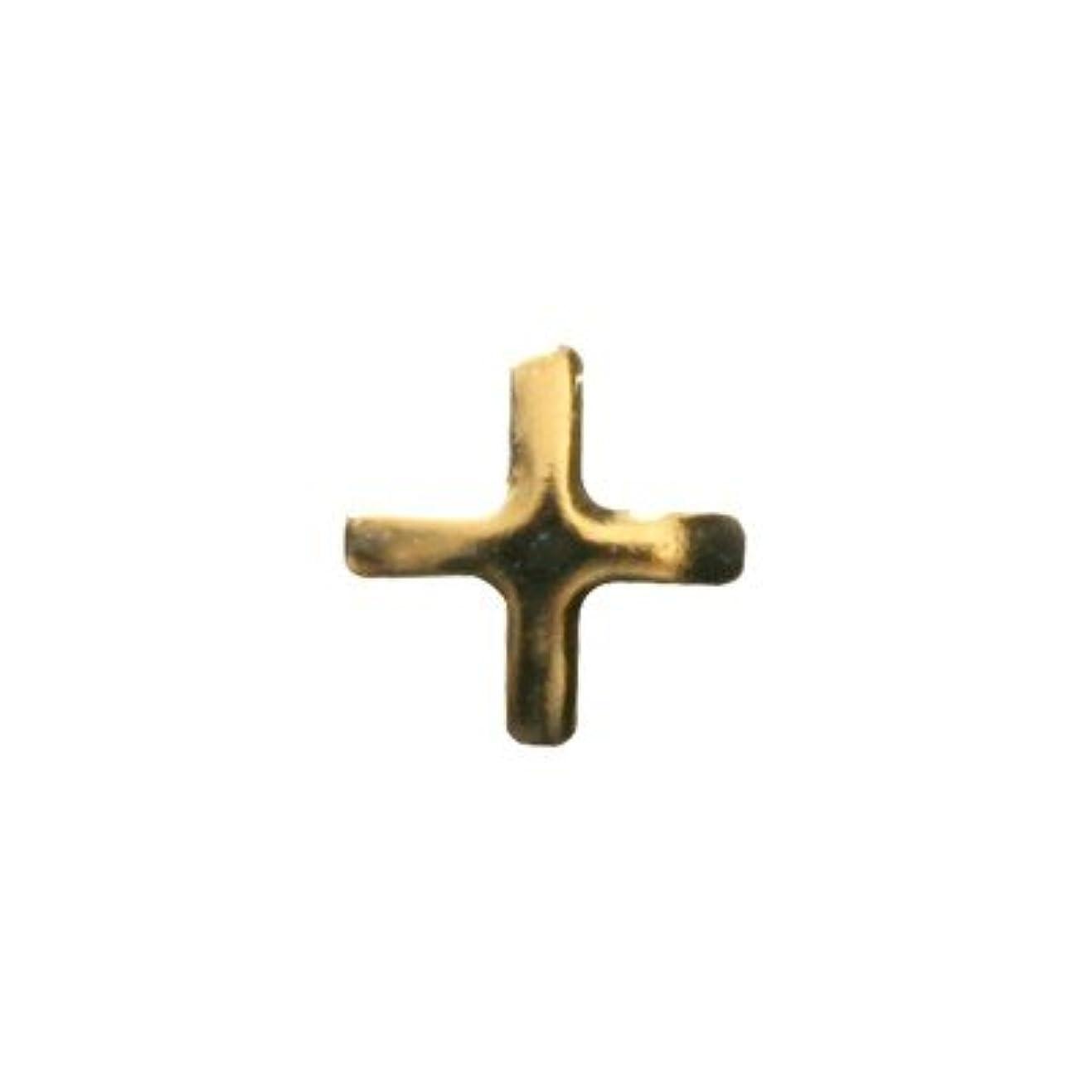 ラベルチャップ旧正月ピアドラ スタッズ クロスレット ハーフ 3mm 50P ゴールド