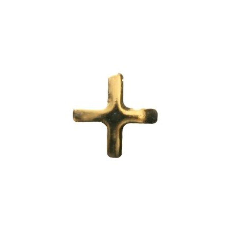 寄り添うクスコ資源ピアドラ スタッズ クロスレット ハーフ 3mm 50P ゴールド
